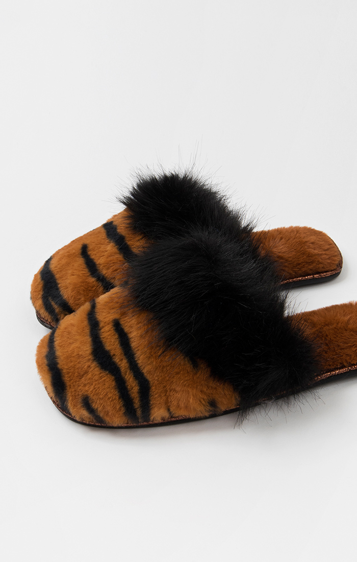 Fran Slippers - Tiger