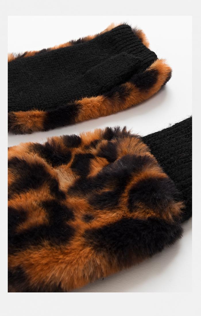 Gizelle Fingerless Glove - Leopard
