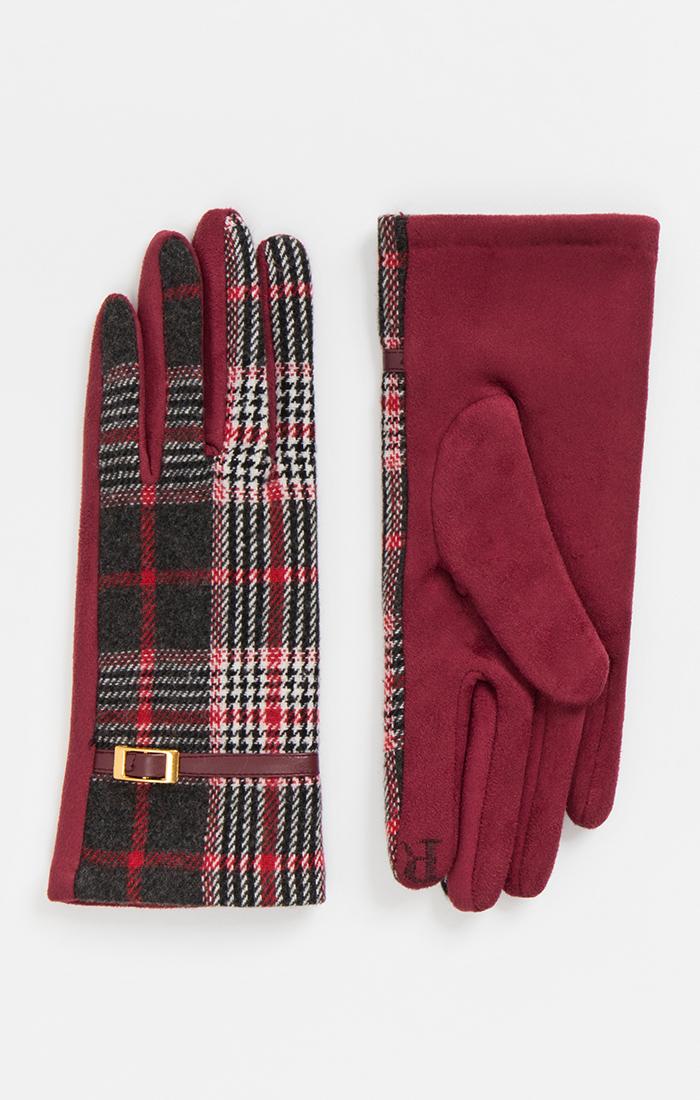 Womens Tartan Checked Gloves
