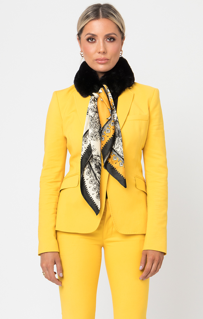 Janette Scarf - Black/Yellow