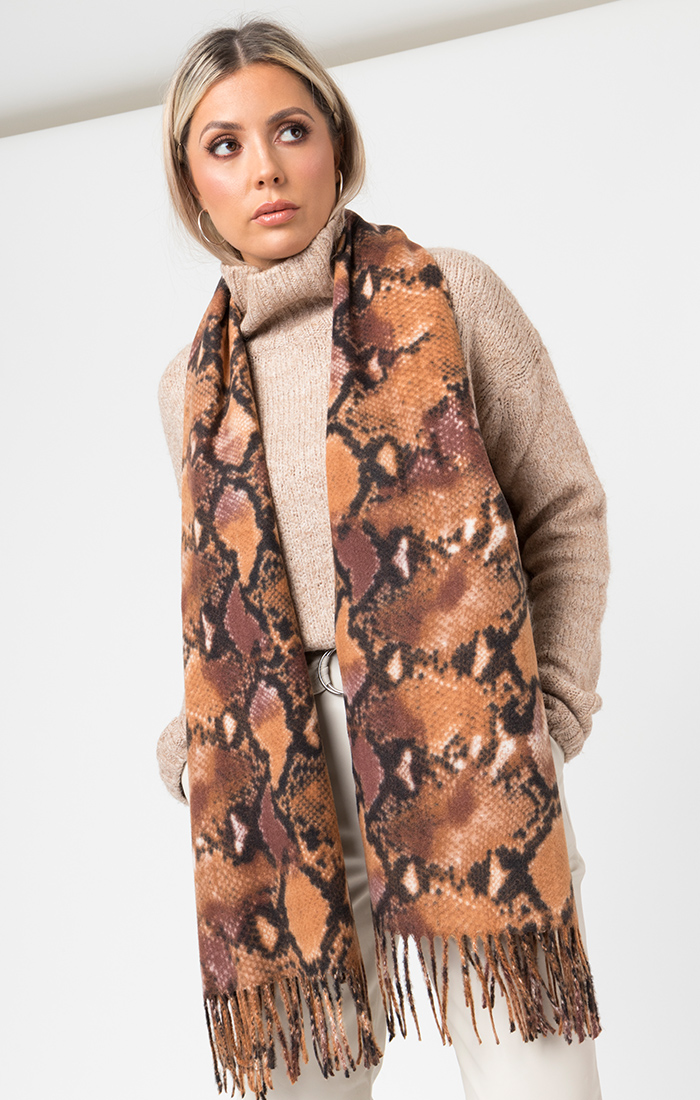 Juliana Scarf - Brown Animal Print