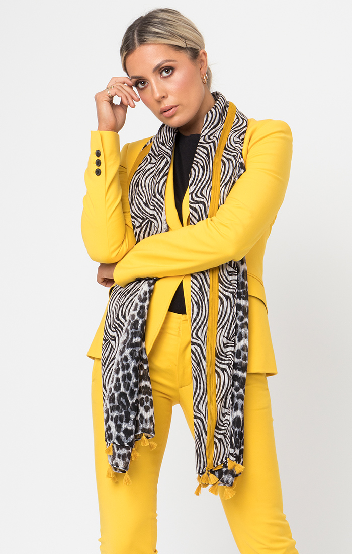 Karla Scarf - Black/Yellow