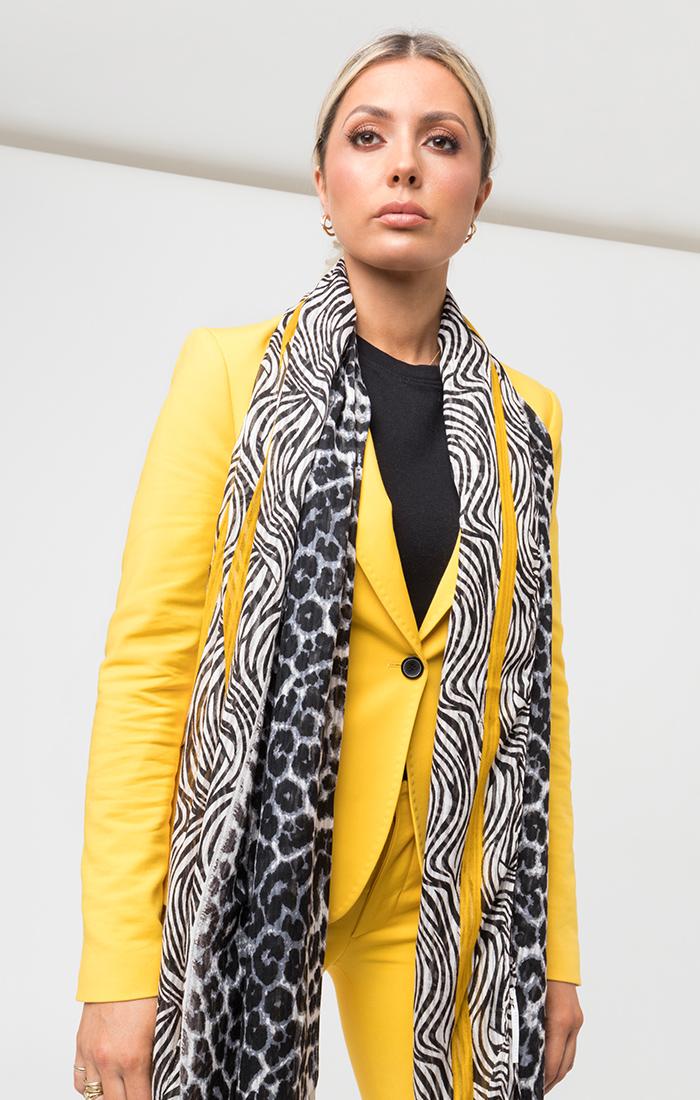 Karla Scarf - Black/Yellow