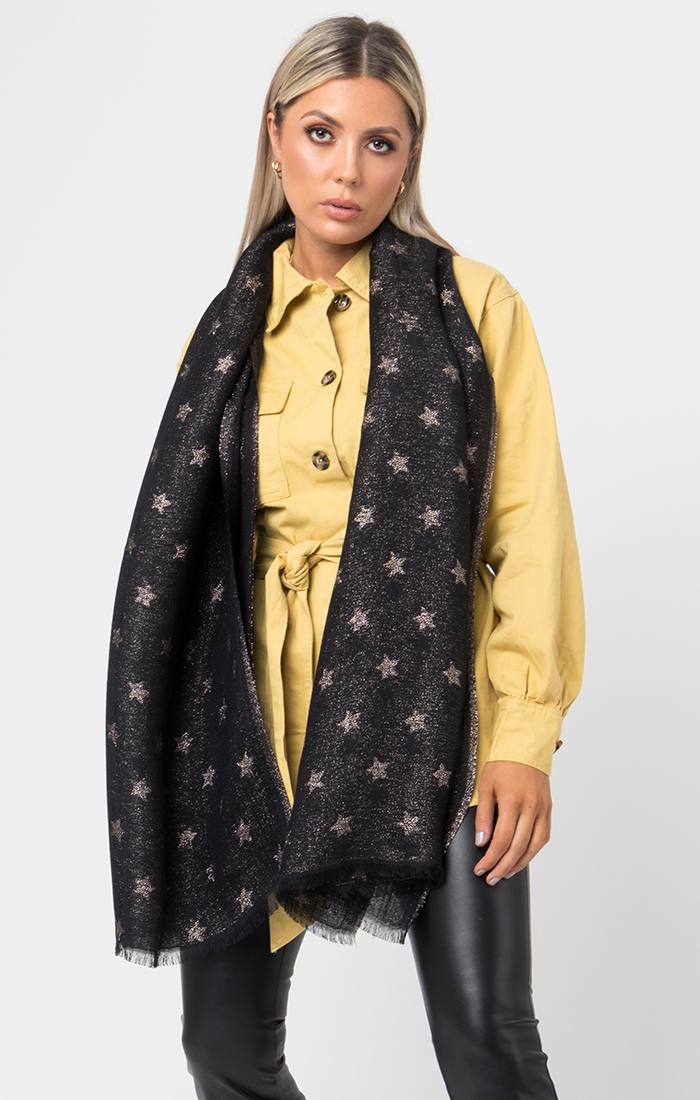 Kathryn Scarf - Black/Gold