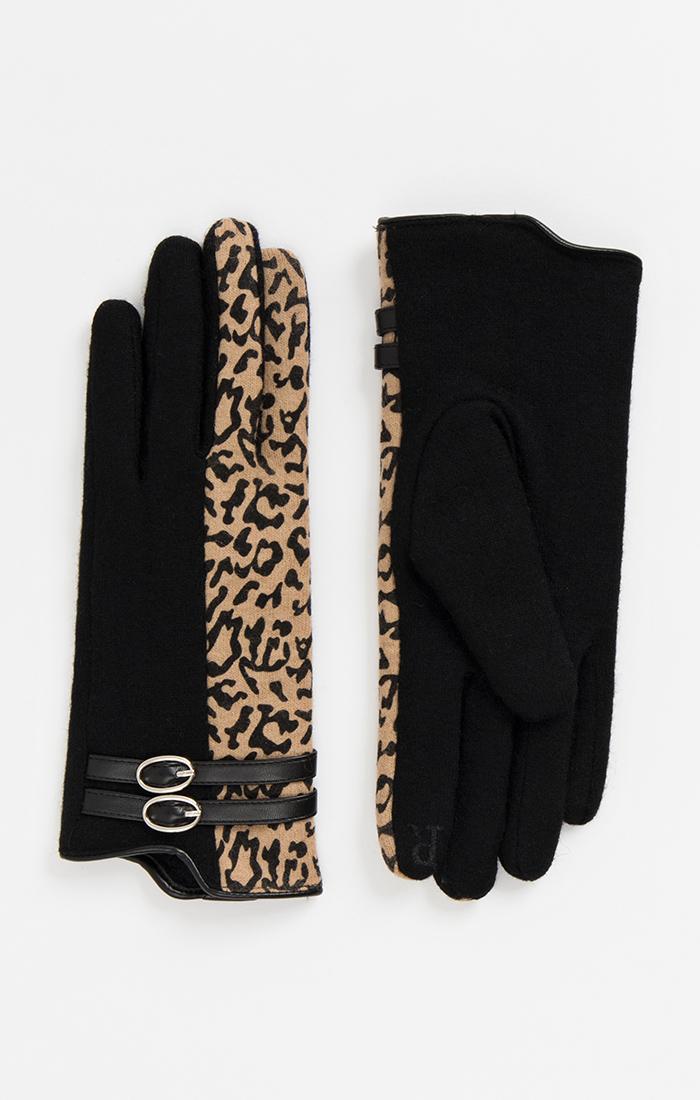 Laici Glove - Black/Leopard