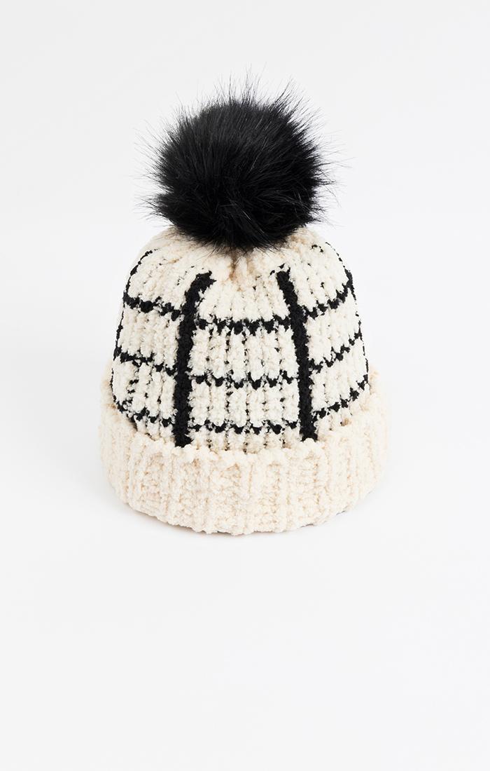 Levine Hat - Natural/Black