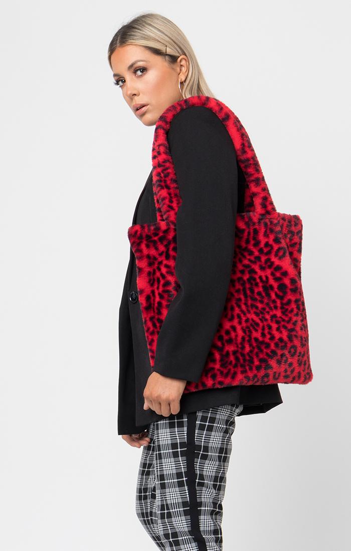 Livia Shopper Bag - Red/Black