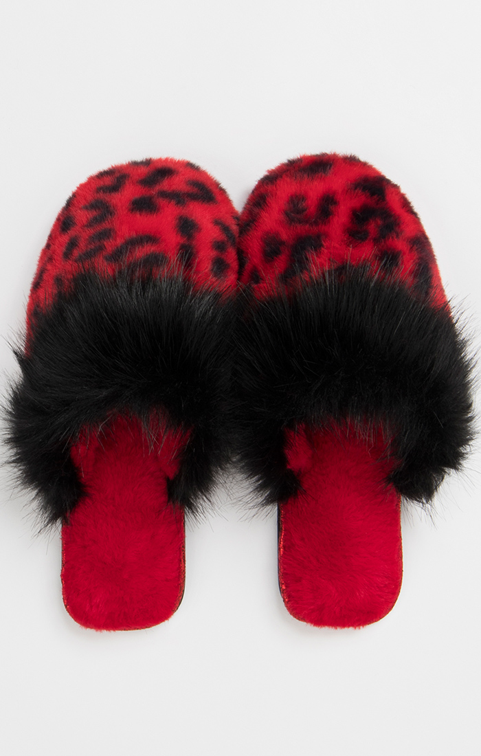 Livia Slippers - Red/Black