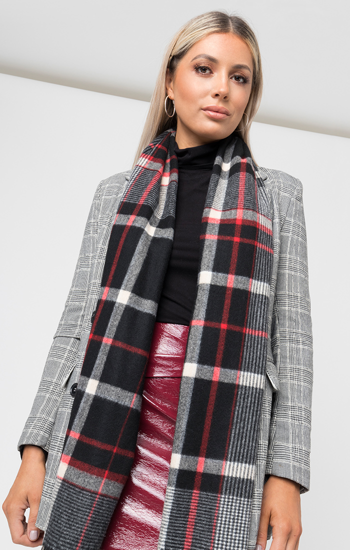 Maddison Scarf - Black/Red
