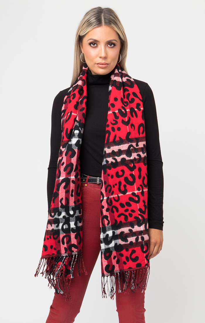 Raakel Scarf - Black/Red