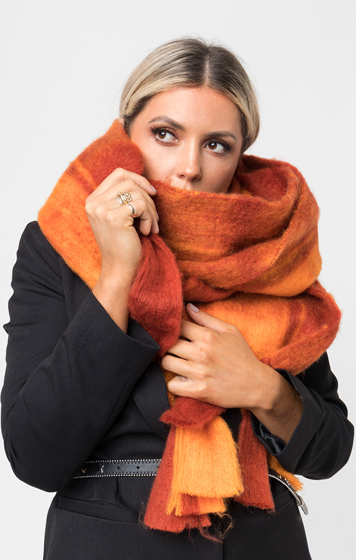 Zabella Scarf - Orange/Red