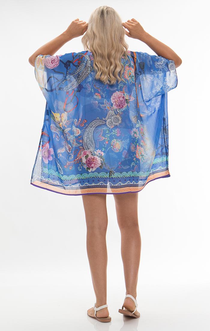 Adilah Kimono - Blue