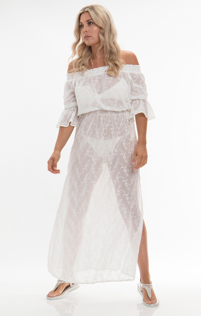 Baye Maxi Dress - White