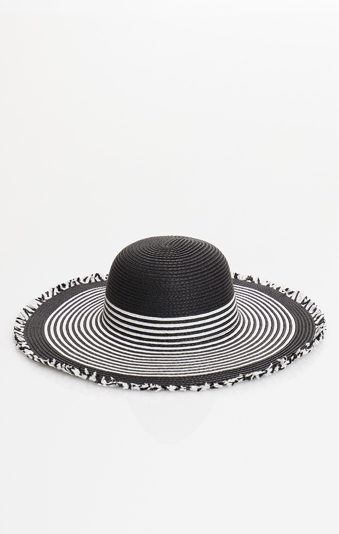 Cabana Hat - Black/White
