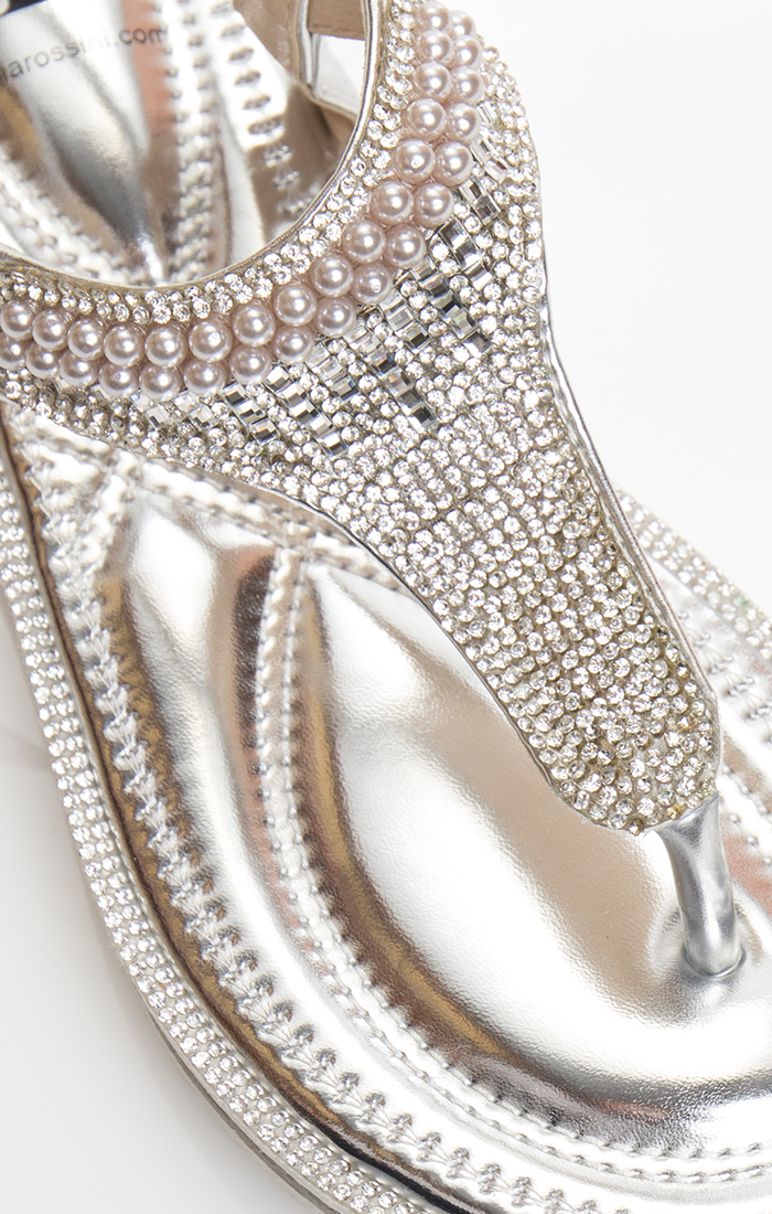Camille Sandal - Silver