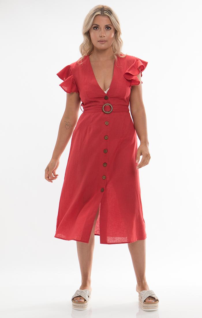 Dune Dress - Red