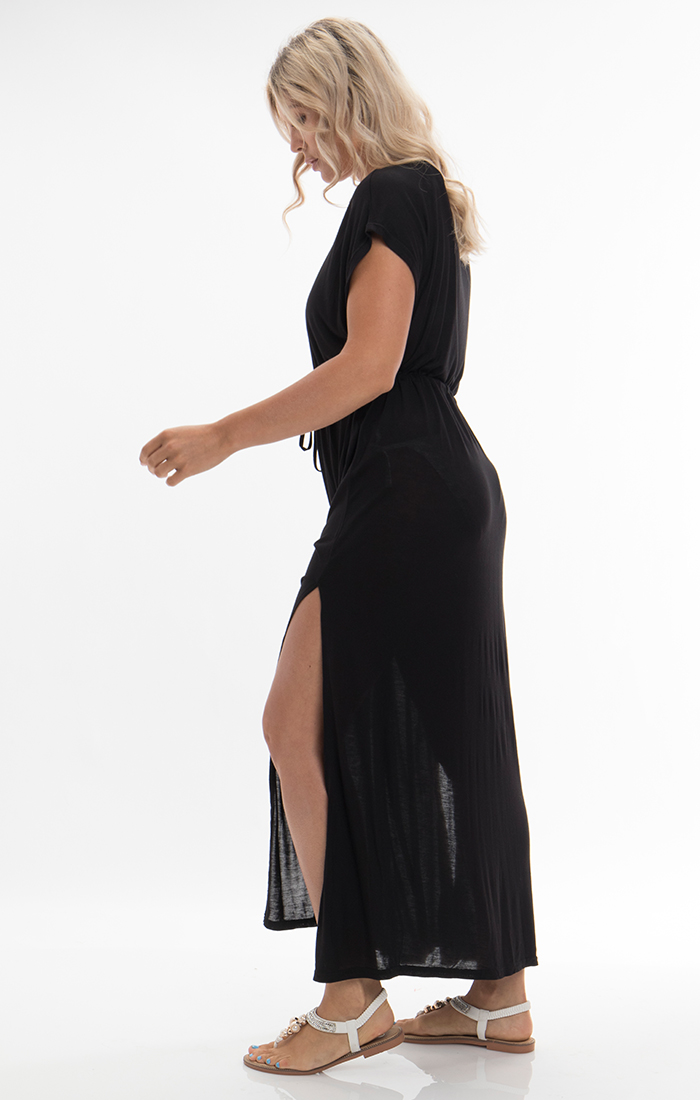 Evora Maxi Dress - Black