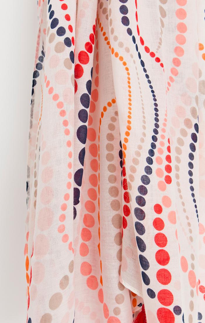 Iona Scarf - Orange/Red