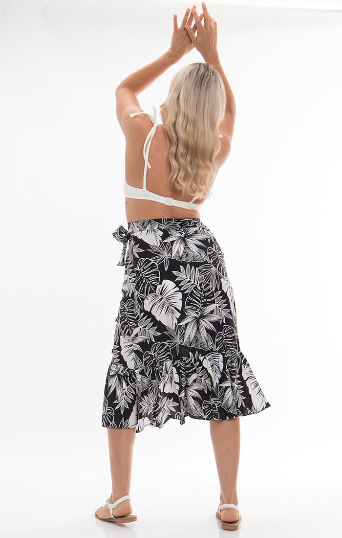 Kai Midi Skirt - Black/White