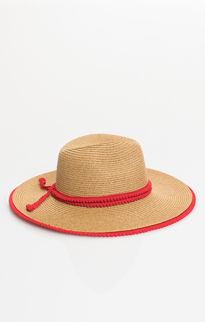 Kian Hat - Natural/Red