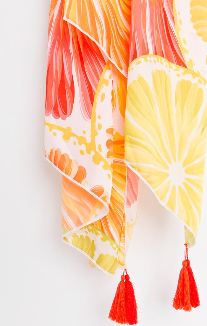 Limone Scarf - Orange/Red