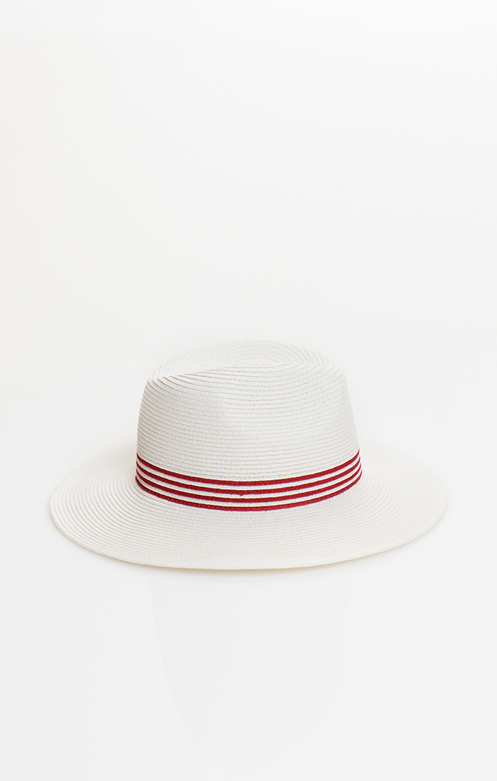 Lowri Hat - White/Red