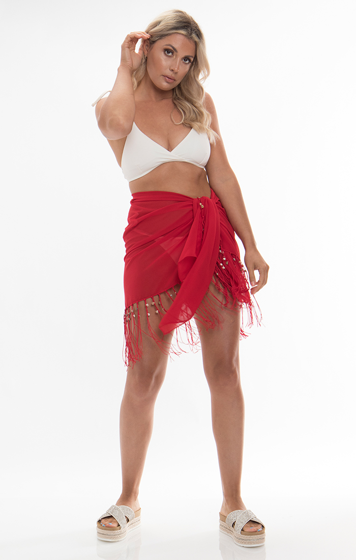 San Remo Mini Sarong - Red