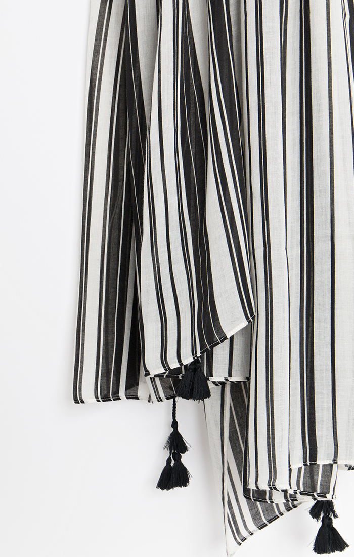 Sovana Scarf - Black/White