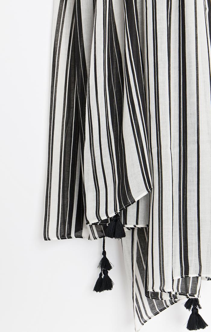 Sovana Scarf - Black/White