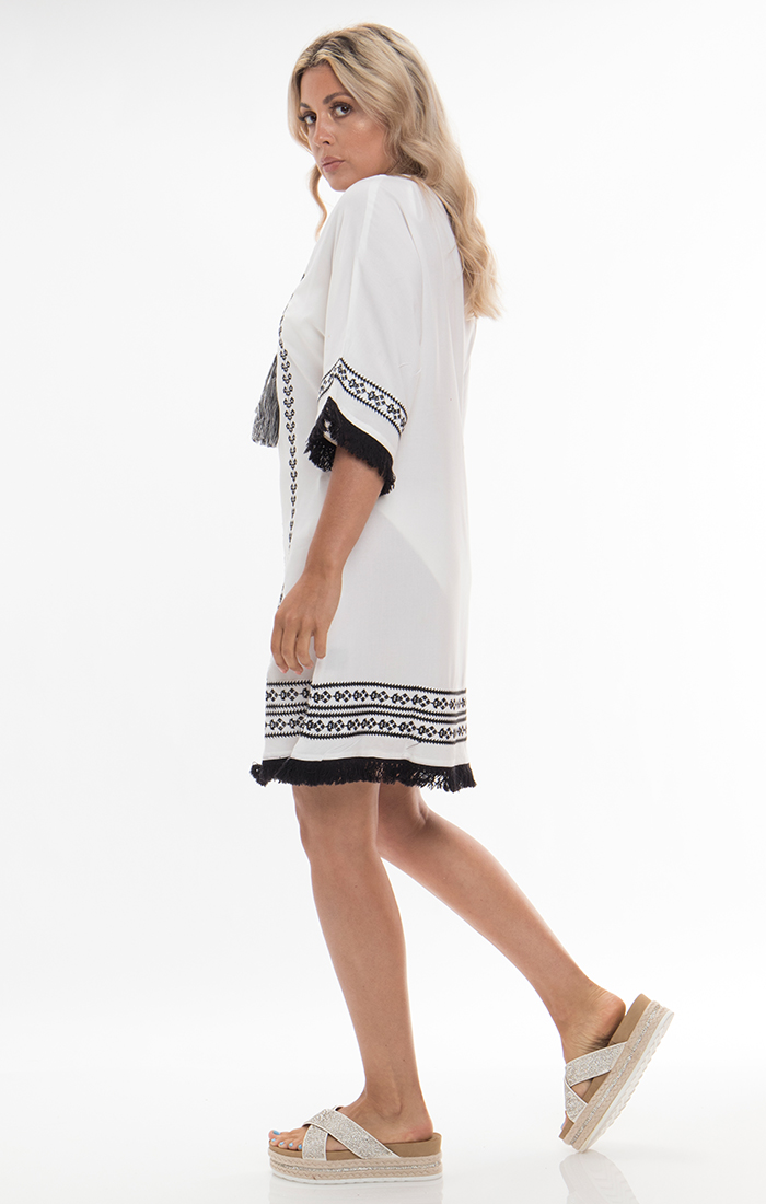 Thea Cover Up - White/Black