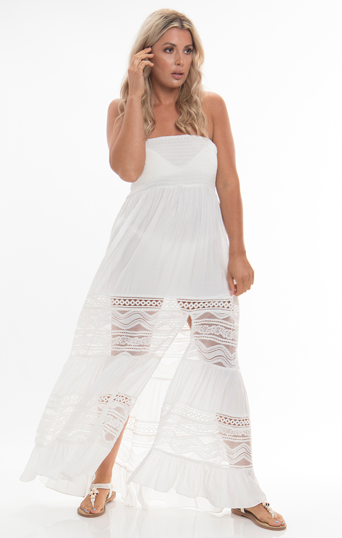 Vienna Maxi Dress - White