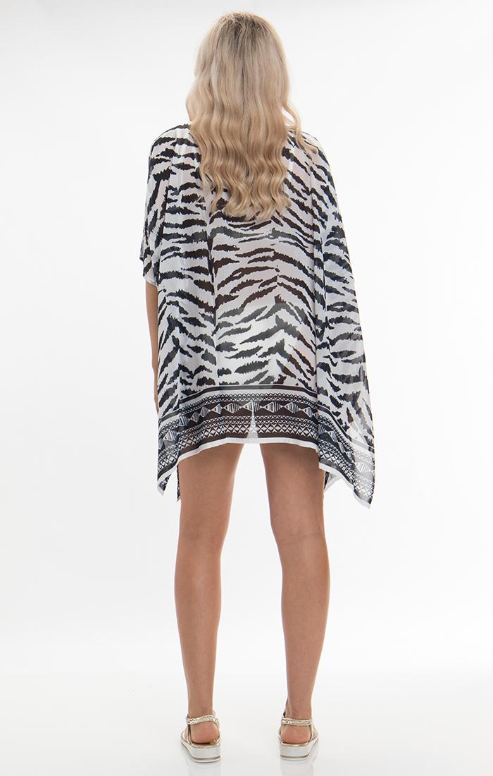Yasmina Kimono - Black/White
