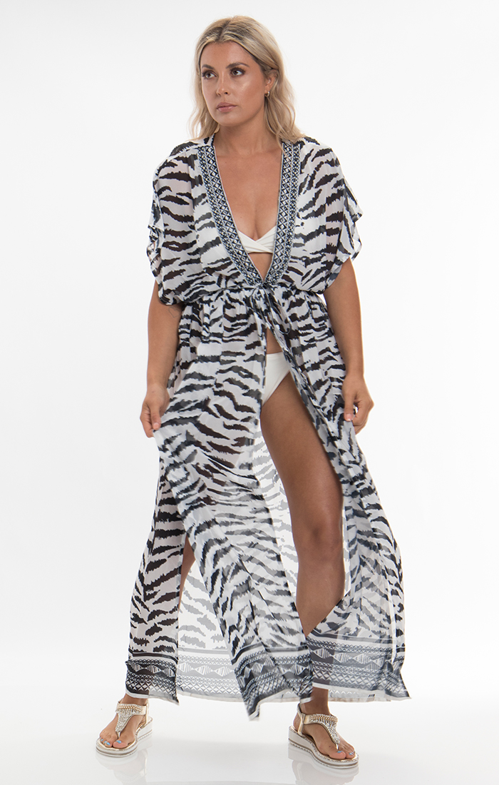 Yasmina Maxi Dress - Black/White