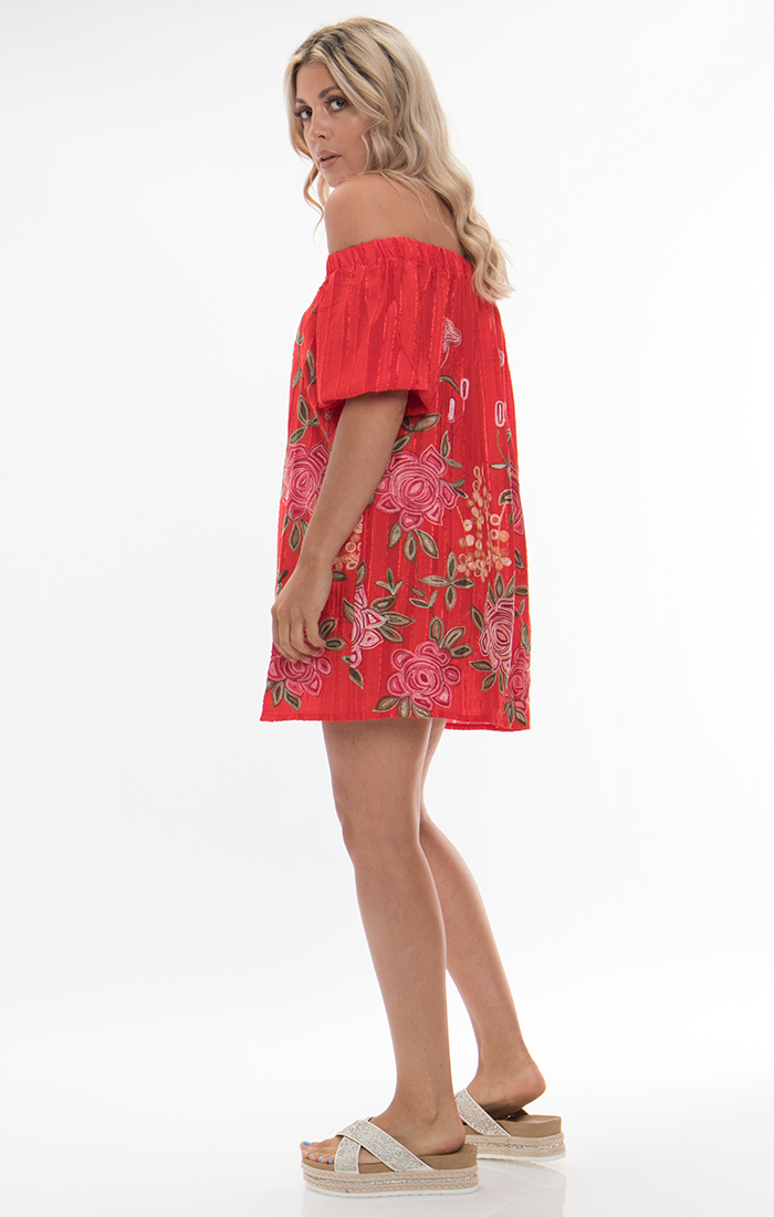 Zella Bardot Dress - Red