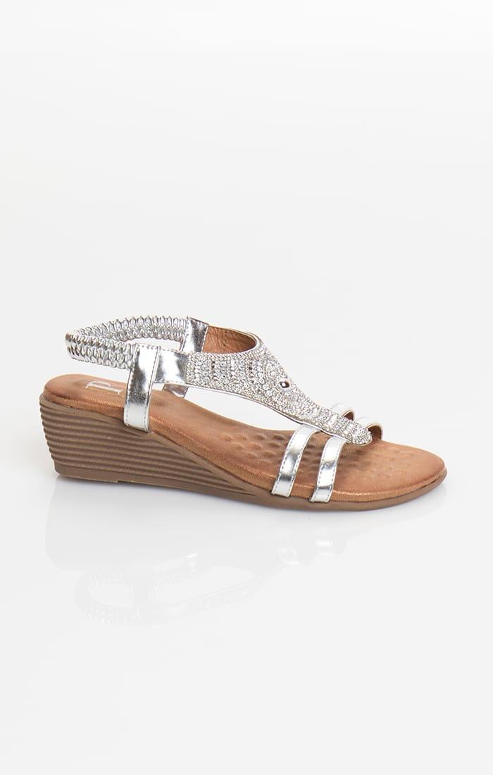Gemini Sandal - Silver