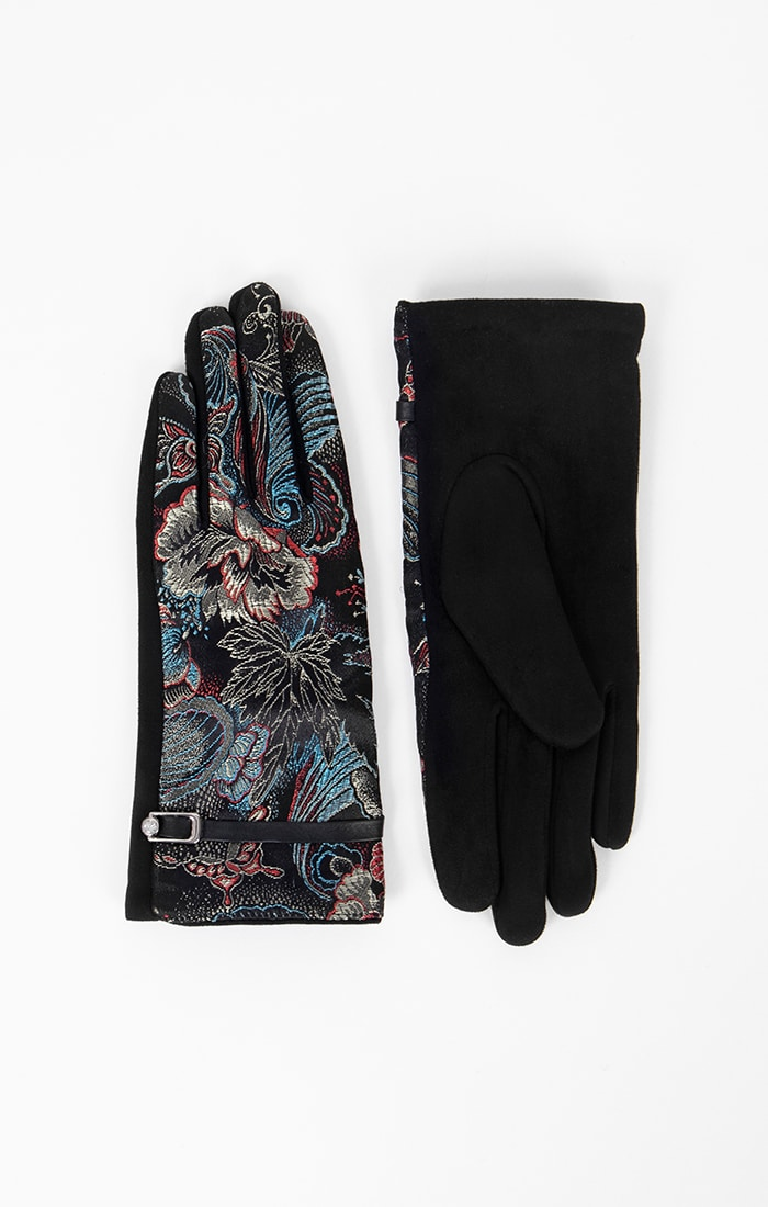 Womens Retro Print Gloves