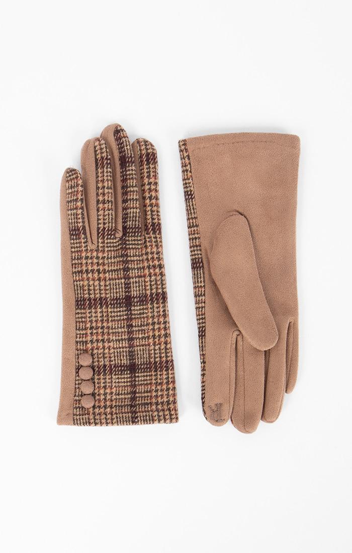 Camel Tartan Gloves