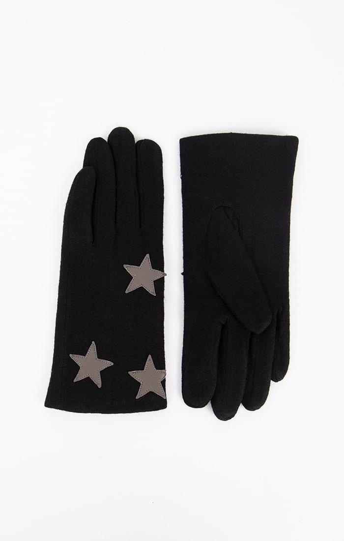 Black Gloves with Stars